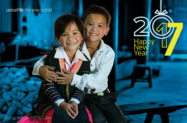 unicef for every child 2017 Happy New Year